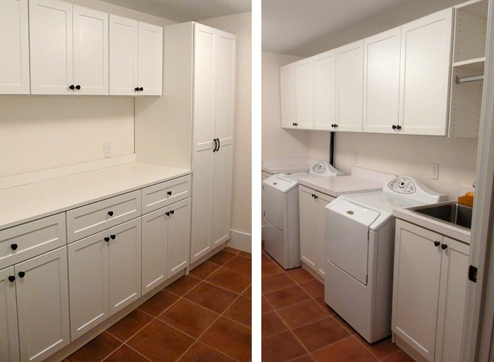 A Mudroom / laundry room can be a great space for a small office or craft area.
