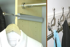 valet rod clothes hooks