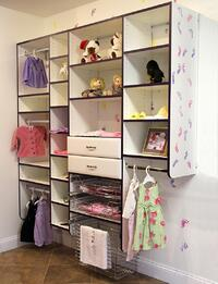 Closet in a baby's room