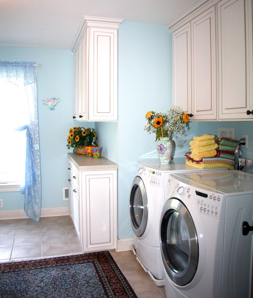 Creating a pleasant and useful space for your laundry room will help you keep up on your laundry.