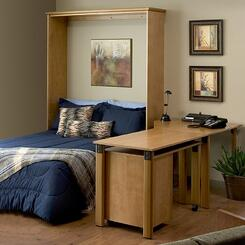 Murphy Bed in an Office makes one room with two uses.
