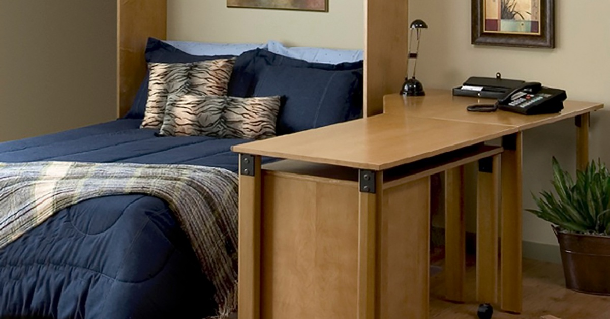 Desk Combo Open Murphy Bed