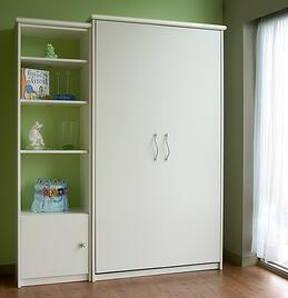 White Closed Murphy Bed