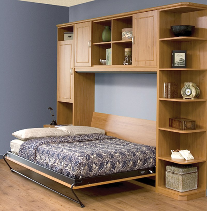 A murphy bed is a great way to organize foor the holidays by giving you extra space and beds for your guests.