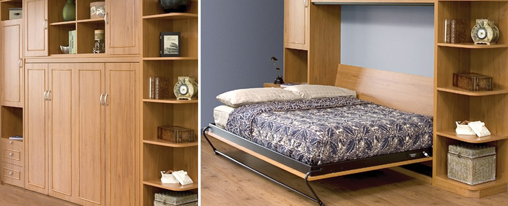 A Murphy bed can maximize living spaces and Closets and Cabinetry can help.