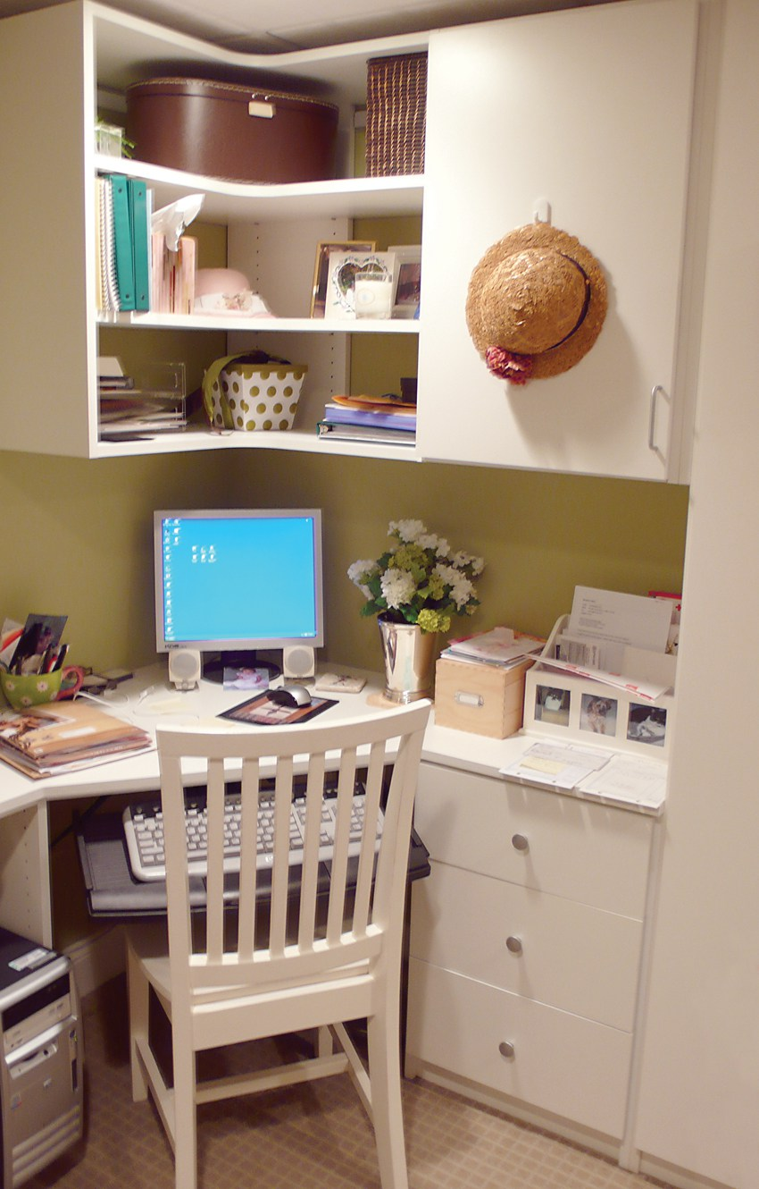 With more people having the option to work from home having an organized office space is important for productivity.