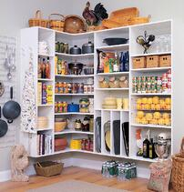 A stocked pantry. Stock you pantry ahead of the holidays so you are not scrambling during the holidays.