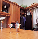 traditional cabinetry in a large closet