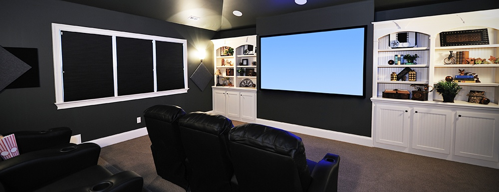 Closet City can create awesome home theaters.