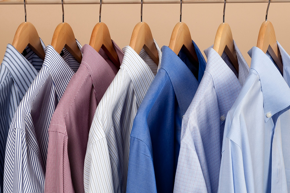 When planning a new closet think about how you store you clothing, folded or hung shirts.