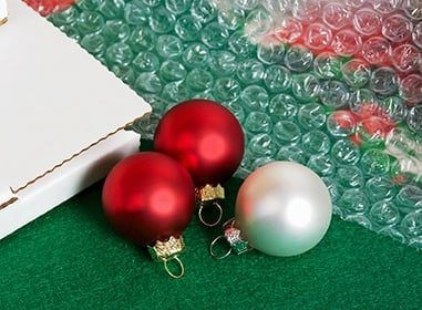 Ornaments and bubble wrap