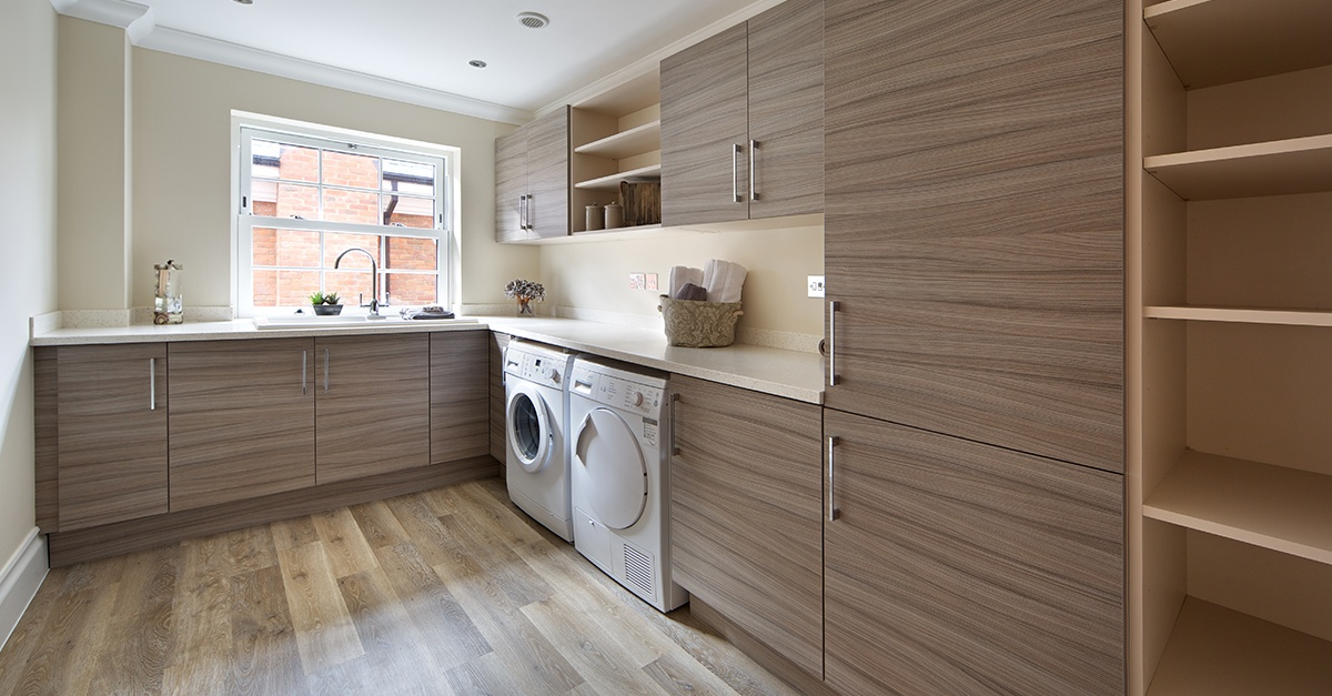 Upscale laundry room