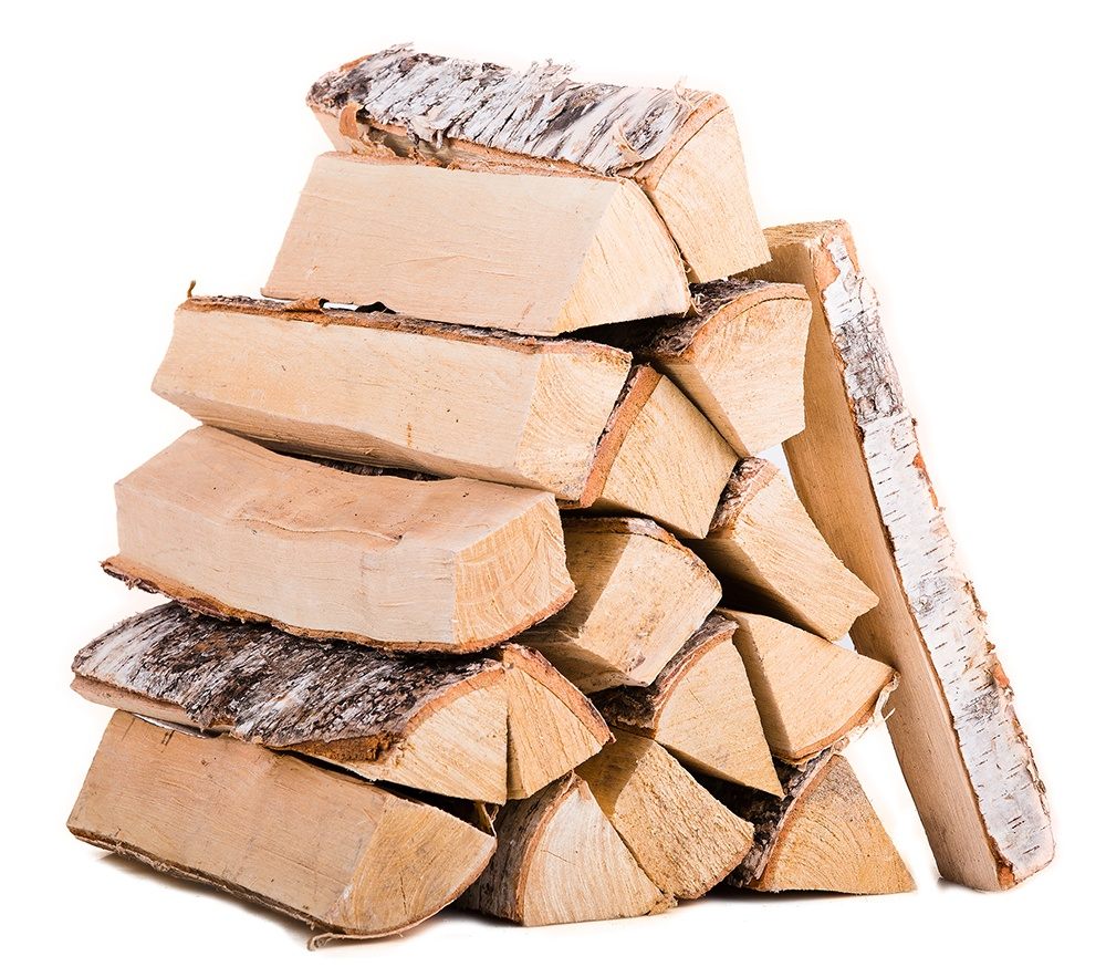 Stack of firewood. To help with holiday home organization, make sure to keep plenty of firewood on hand for your fireplace.