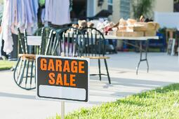 Having a garage sale is a great way to make some headway in organizing your garage.
